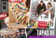 Tapas de revistas. Hola, Gente, Caras, las revistas del espectáculo y sus adelantos.